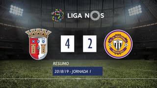 Liga NOS (1ªJ): Resumo SC Braga 4-2 CD Nacional
