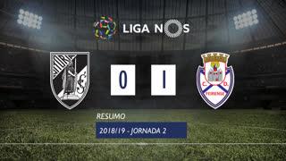 Liga NOS (2ªJ): Resumo Vitória SC 0-1 CD Feirense