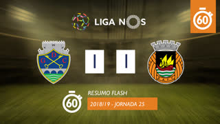 I Liga (25ªJ): Resumo Flash GD Chaves 1-1 Rio Ave FC