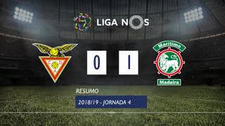 Liga NOS (4ªJ): Resumo CD Aves 0-1 Marítimo M.