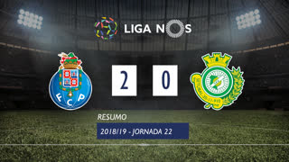 Liga NOS (22ªJ): Resumo FC Porto 2-0 Vitória FC