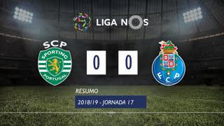 Liga NOS (17ªJ): Resumo Sporting CP 0-0 FC Porto