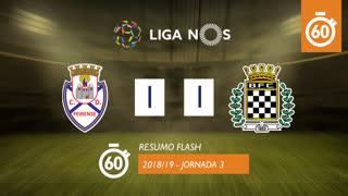 Liga NOS (3ªJ): Resumo Flash CD Feirense 1-1 Boavista FC