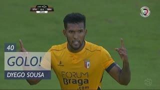 GOLO! SC Braga, Dyego Sousa aos 40', Santa Clara 0-3 SC Braga