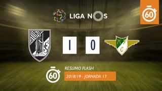 Liga NOS (17ªJ): Resumo Flash Vitória SC 1-0 Moreirense FC