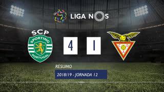 Liga NOS (12ªJ): Resumo Sporting CP 4-1 CD Aves