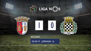 Liga NOS (16ªJ): Resumo SC Braga 1-0 Boavista FC