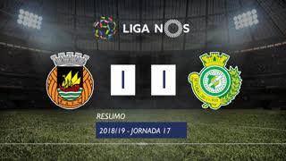 Liga NOS (17ªJ): Resumo Rio Ave FC 1-1 Vitória FC