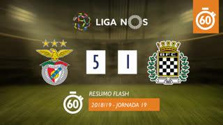 Liga NOS (19ªJ): Resumo Flash SL Benfica 5-1 Boavista FC