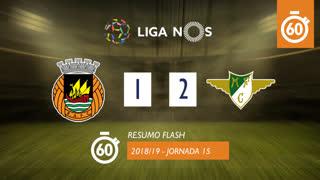 Liga NOS (15ªJ): Resumo Flash Rio Ave FC 1-2 Moreirense FC