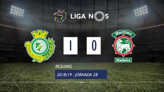 Liga NOS (28ªJ): Resumo Vitória FC 1-0 Marítimo M.