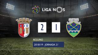 Liga NOS (21ªJ): Resumo SC Braga 2-1 GD Chaves