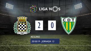 Liga NOS (13ªJ): Resumo Boavista FC 2-0 CD Tondela