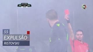 Sporting CP, Expulsão, Ristovski aos 55'