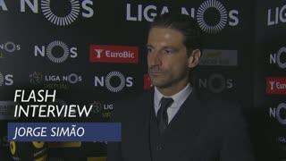 Liga (8ª): Flash interview Jorge Simão