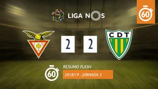 Liga NOS (2ªJ): Resumo Flash CD Aves 2-2 CD Tondela