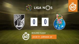Liga NOS (20ªJ): Resumo Flash Vitória SC 0-0 FC Porto