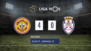 Liga NOS (22ªJ): Resumo CD Nacional 4-0 CD Feirense