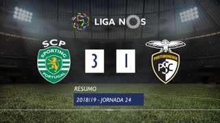 Liga NOS (24ªJ): Resumo Sporting CP 3-1 Portimonense