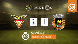 Liga NOS (10ªJ): Resumo Flash CD Aves 2-1 Rio Ave FC