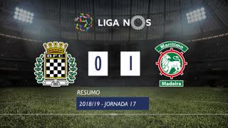 Liga NOS (17ªJ): Resumo Boavista FC 0-1 Marítimo M.