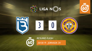 Liga NOS (34ªJ): Resumo Flash Belenenses 3-0 CD Nacional