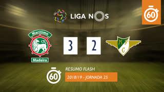 Liga NOS (25ªJ): Resumo Flash Marítimo M. 3-2 Moreirense FC