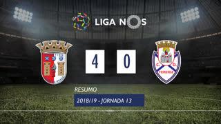 Liga NOS (13ªJ): Resumo SC Braga 4-0 CD Feirense