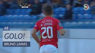 GOLO! Sta. Clara, Bruno Lamas aos 48', CD Feirense 0-2 Sta. Clara