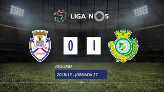 Liga NOS (27ªJ): Resumo CD Feirense 0-1 Vitória FC
