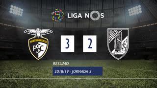 Liga NOS (5ªJ): Resumo Portimonense 3-2 Vitória SC