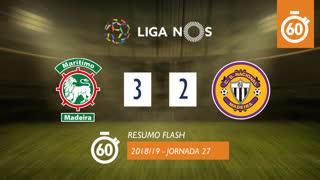 Liga NOS (27ªJ): Resumo Flash Marítimo M. 3-2 CD Nacional