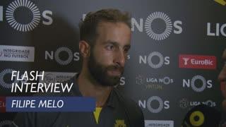 Liga (1ª): Flash interview Filipe Melo