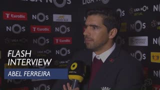 Liga (22ª): Flash Interview Abel Ferreira
