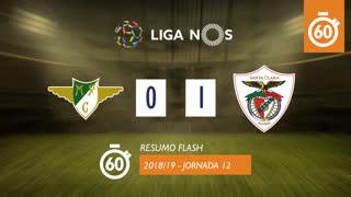 Liga NOS (12ªJ): Resumo Flash Moreirense FC 0-1 Sta. Clara