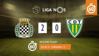 Liga NOS (13ªJ): Resumo Flash Boavista FC 2-0 CD Tondela