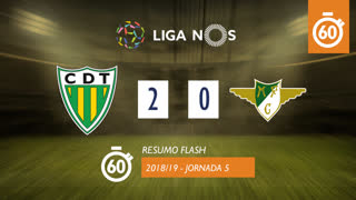 Liga NOS (5ªJ): Resumo Flash CD Tondela 2-0 Moreirense FC