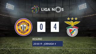 Liga NOS (4ªJ): Resumo CD Nacional 0-4 SL Benfica