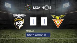 Liga NOS (23ªJ): Resumo Portimonense 1-1 CD Aves