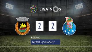 Liga NOS (31ªJ): Resumo Rio Ave FC 2-2 FC Porto