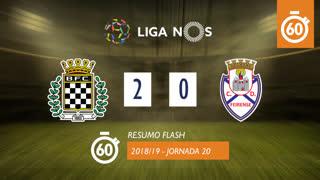 Liga NOS (20ªJ): Resumo Flash Boavista FC 2-0 CD Feirense
