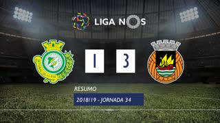 Liga NOS (34ªJ): Resumo Vitória FC 1-3 Rio Ave FC
