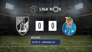 Liga NOS (20ªJ): Resumo Vitória SC 0-0 FC Porto