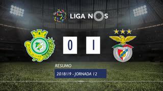 Liga NOS (12ªJ): Resumo Vitória FC 0-1 SL Benfica