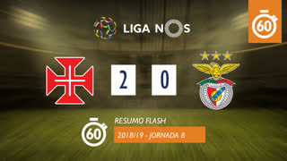 Liga NOS (8ªJ): Resumo Flash Belenenses SAD 2-0 SL Benfica