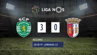 Liga NOS (22ªJ): Resumo Sporting CP 3-0 SC Braga