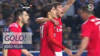 GOLO! SL Benfica, João Félix aos 26', FC Porto 1-1 SL Benfica