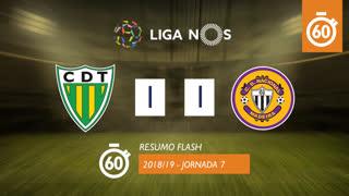 Liga NOS (7ªJ): Resumo Flash CD Tondela 1-1 CD Nacional