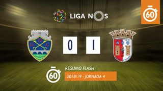 Liga NOS (4ªJ): Resumo Flash GD Chaves 0-1 SC Braga