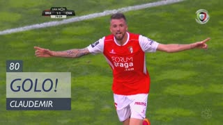 GOLO! SC Braga, Claudemir aos 80', SC Braga 2-1 GD Chaves
